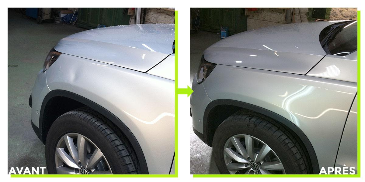Exemples de débosselage et nettoyage de voiture